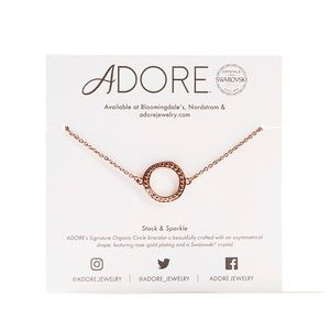 Adore by Swarovski | Rose Gold Circle Bracelet